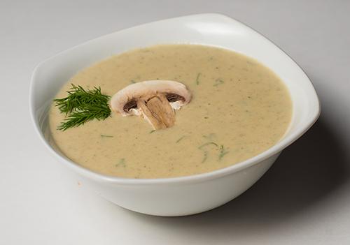суп пюре из курицы и шампиньонов со сливками
