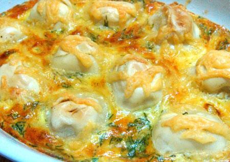 Пельмени жареные на сковороде с сыром рецепт