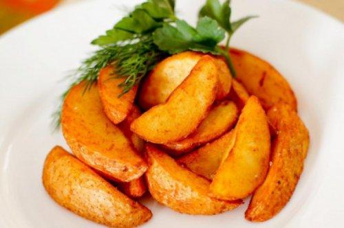 картошка по деревенски в духовке рецепт с фото как в макдональдсе пошагово