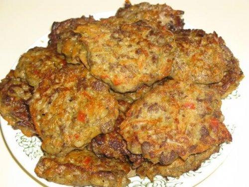 Котлеты из печени говяжьей с морковью рецепт пошагово