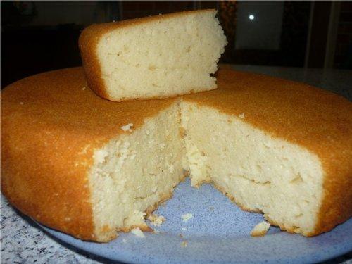 Базовый пирог на кефире в мультиварке