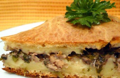 рецепт пирога с рыбными консервами в духовке