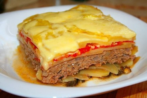 мясная запеканка в духовке с картошкой рецепт с фото