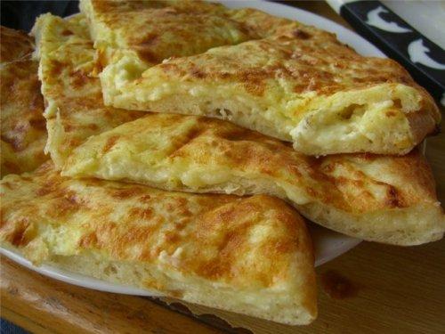 Простые хачапури на сковороде с сыром рецепт