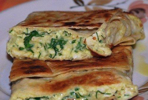 лаваш в духовке с сыром и творогом