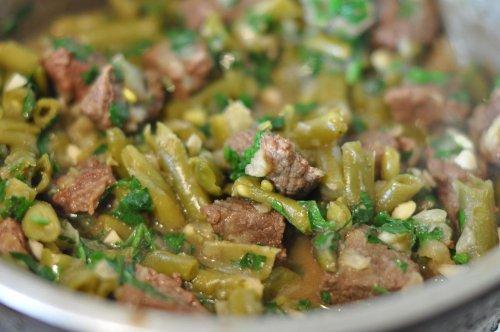 рецепты из стручковой фасоли с мясом в мультиварке