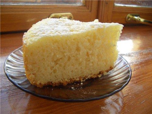 Пирог манник на молоке