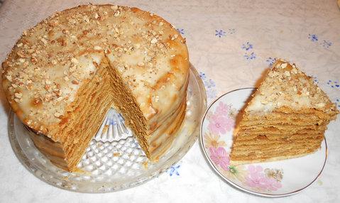 рецепт торта медовик на сухой сковороде фото