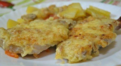 мясо с картошкой в духовке с соусом бешамель рецепт