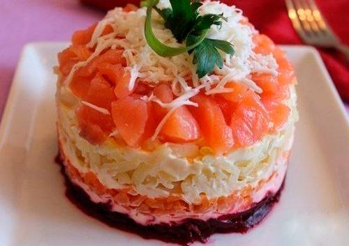 Салат шуба с красной рыбой рецепт