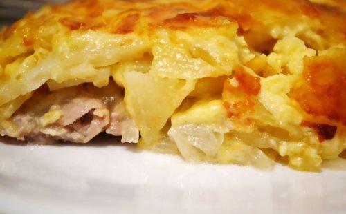 Картошка по-французски с куриной грудкой