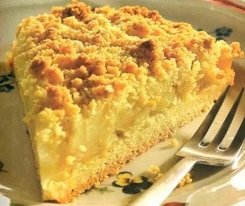 пирог крошка с творогом и лимоном рецепт с фото
