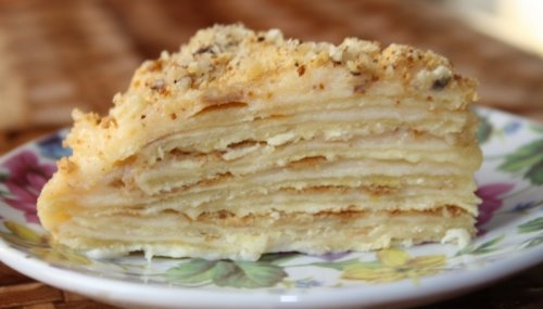 Быстрый торт наполеон на сковороде