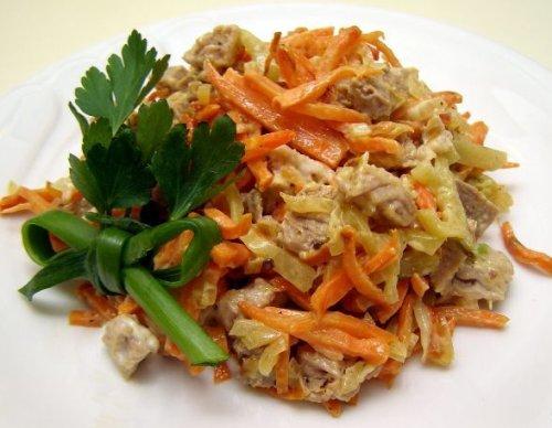 Салат с говядиной с маслом