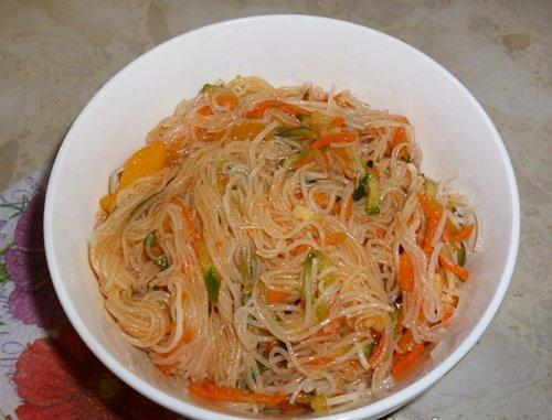 Салат из фунчозы рецепт