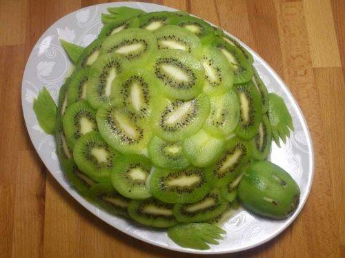 Легкий фруктовый торт изумрудная черепаха